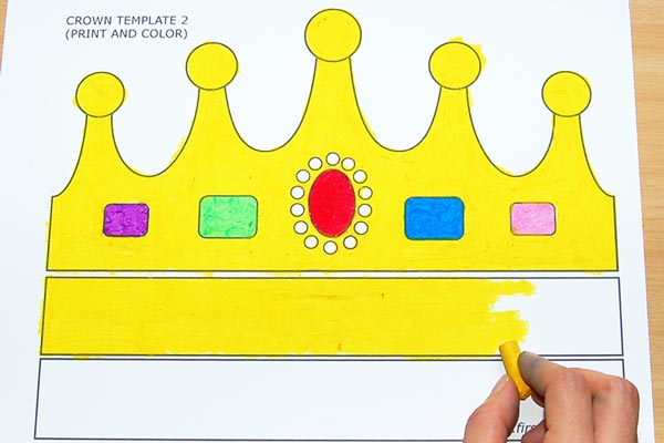 STEP 2 Print and Color Crown