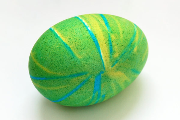 STEP 14 Rubber Band Dyed Easter Eggs
