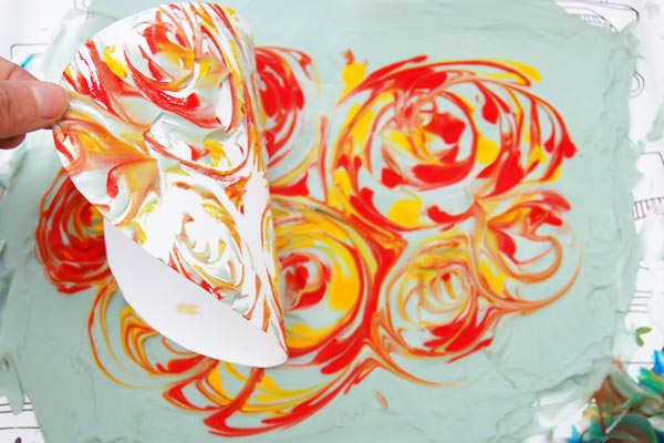 STEP 11 Shaving Foam Marbling