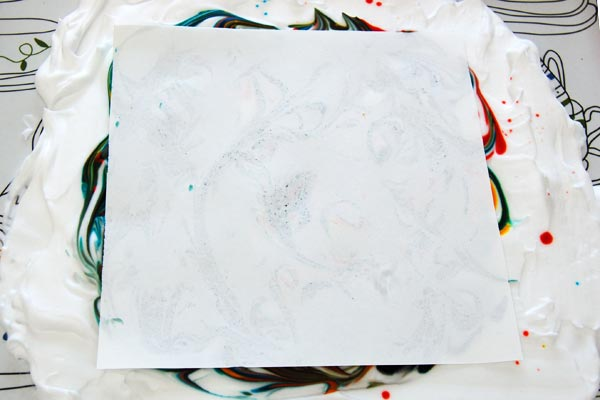 STEP 5 Shaving Foam Marbling