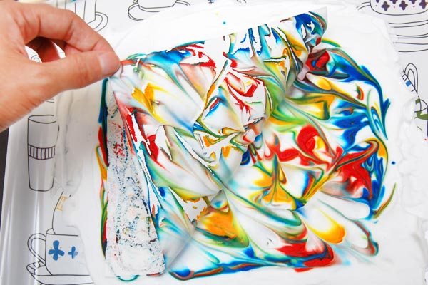 STEP 6 Shaving Foam Marbling