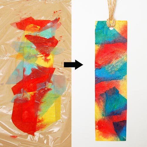 MORE IDEAS - Make a tie-dyed bookmark.