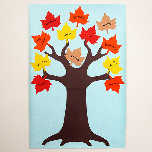 MORE IDEAS - Thanksgiving Tree Picture