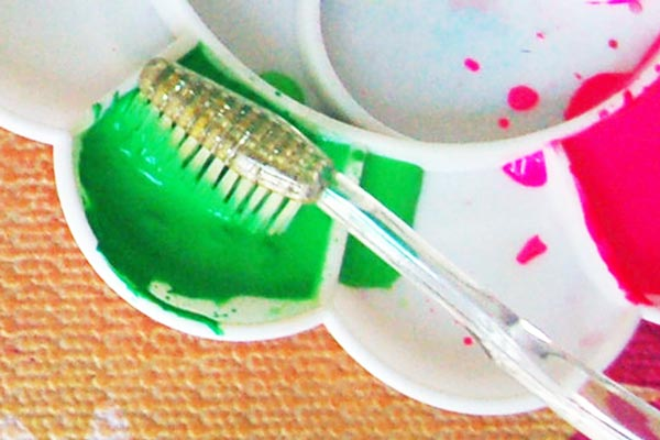 STEP 6 Toothbrush Painting