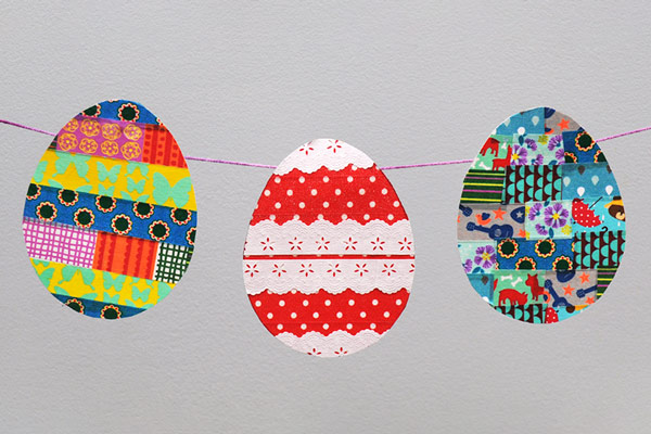 MORE IDEAS - Create an Easter garland.