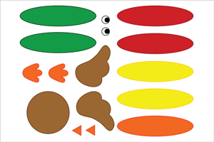 Paper Cup Turkey Templates