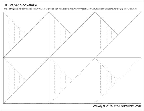 3D Paper Snowflake | Kids' Crafts | Fun Craft Ideas