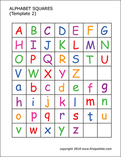 picture about Letter Tiles Printable identify Alphabet Letter Squares Free of charge Printable Templates