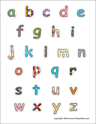 Printable Patterned Alphabet Lower Case Letters