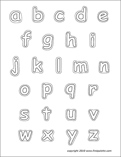 Printable Alphabet Lower Case Letters