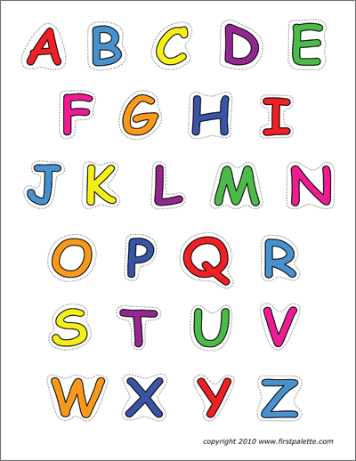 photograph about Colorful Alphabet Letters Printable called Alphabet Higher Circumstance Letters Absolutely free Printable Templates