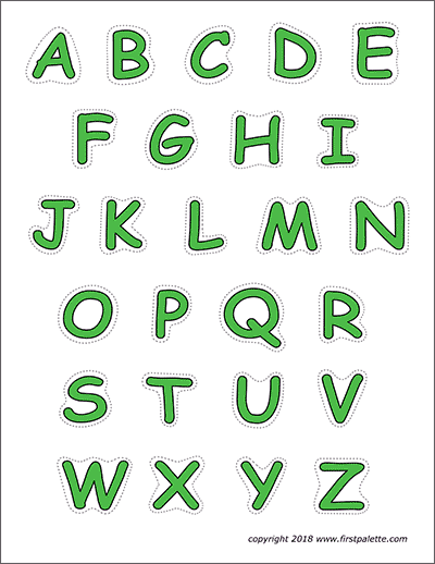 Printable Alphabet Upper Case Letters