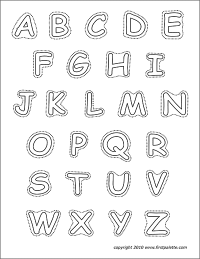 graphic regarding Free Printable Stencil Letters called Alphabet Higher Circumstance Letters Totally free Printable Templates