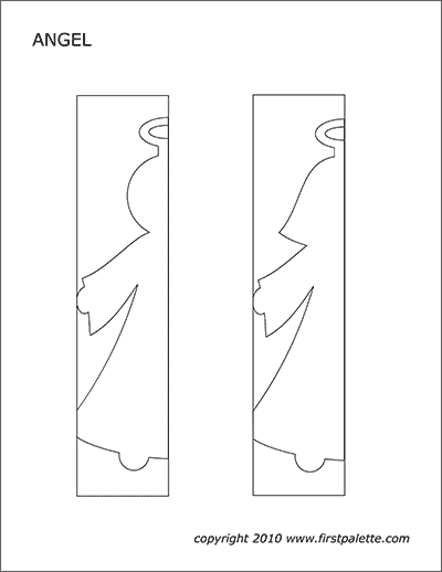 Printable paper angel chain template