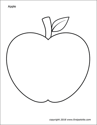 Printable Large Apple Coloring Page