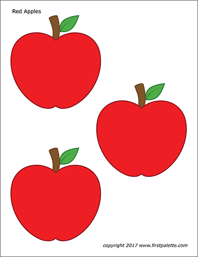 picture about Printable Apple Pictures called Apples Absolutely free Printable Templates Coloring Web pages