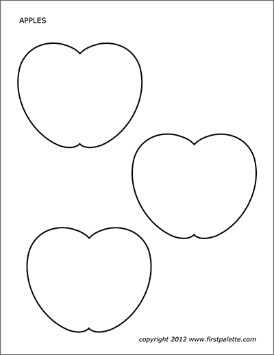 It is an image of Free Printable Apple Template intended for print out
