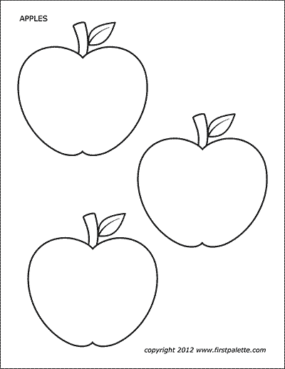 picture relating to Printable Apple Pictures titled Apples Cost-free Printable Templates Coloring Internet pages