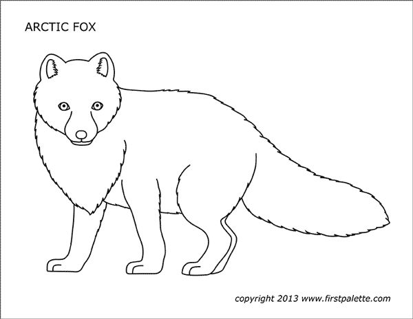 Fox for children - Fox Kids Coloring Pages | 464x600