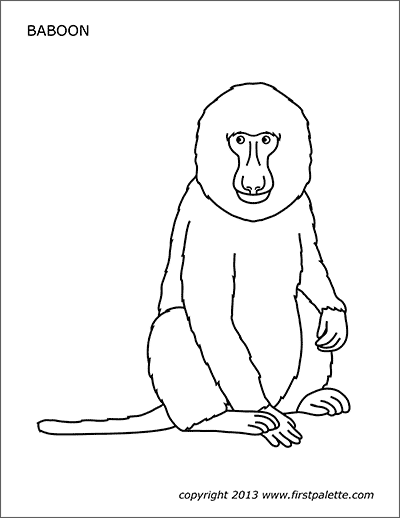 Printable Baboon