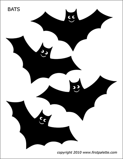graphic about Bat Template Printable named Bats Absolutely free Printable Templates Coloring Internet pages