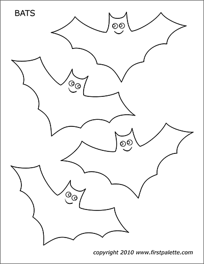 photo relating to Bat Template Printable identified as Bats Cost-free Printable Templates Coloring Internet pages