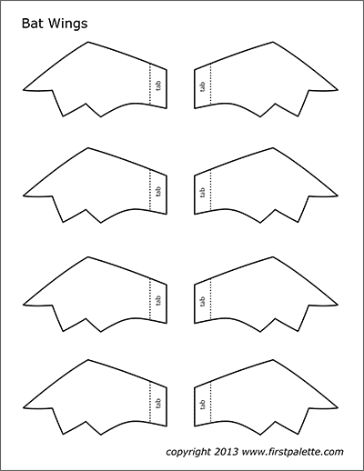 Printable Bat Wings