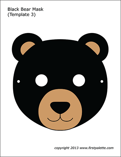 Printable Bear Masks