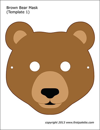 Brown Bear Mask 1