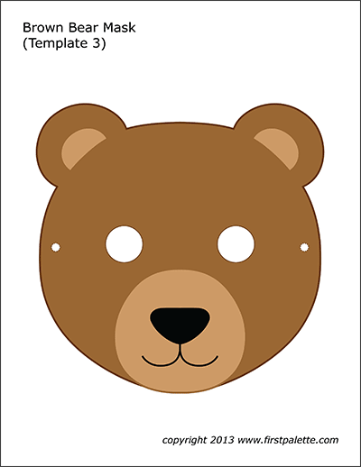 Brown Bear Mask 3