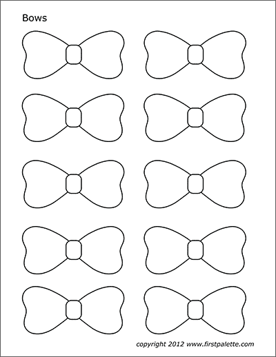 Bows Free Printable Templates Amp Coloring Pages