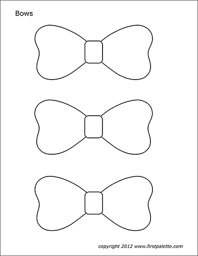 It is a photo of Printable Bow Tie Pattern inside coloring