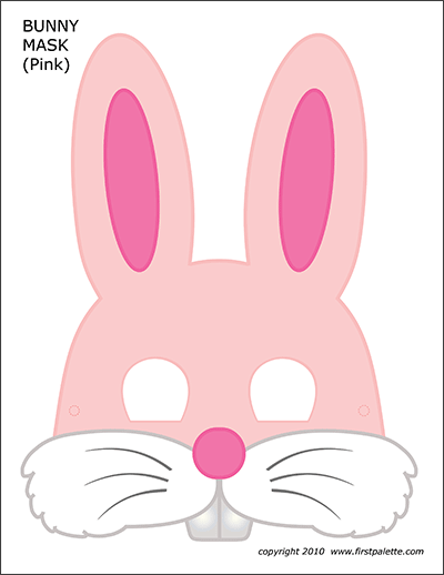 Printable Pink Bunny Mask