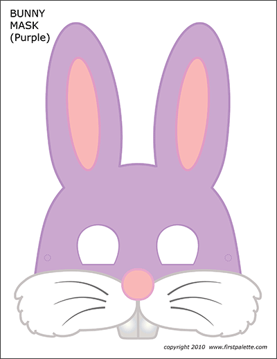 photo about Printable Bunny named Bunny Masks Free of charge Printable Templates Coloring Webpages