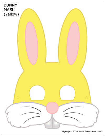 Printable Yellow Bunny Mask