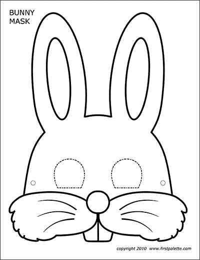 picture relating to Free Printable Eyes named Bunny Masks Cost-free Printable Templates Coloring Internet pages