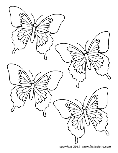 photo about Printable Butterfly titled Butterflies Cost-free Printable Templates Coloring Webpages