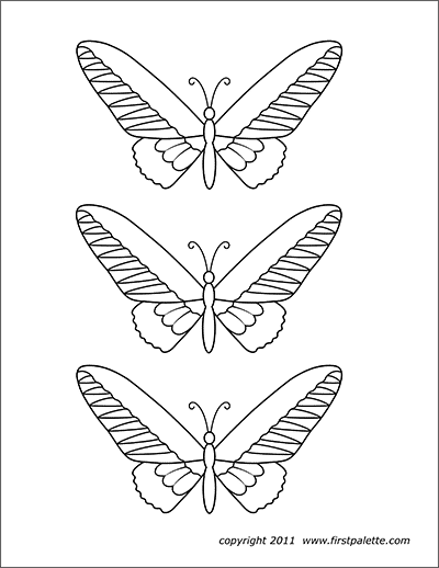 Printable Butterflies Set 3