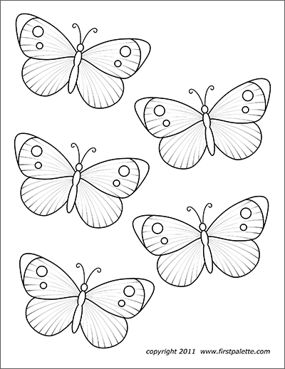 Butterflies Free Printable Templates