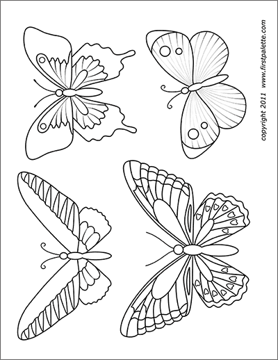 photo regarding Printable Butterfly titled Butterflies No cost Printable Templates Coloring Web pages