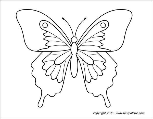 Printable Large Butterfly 2