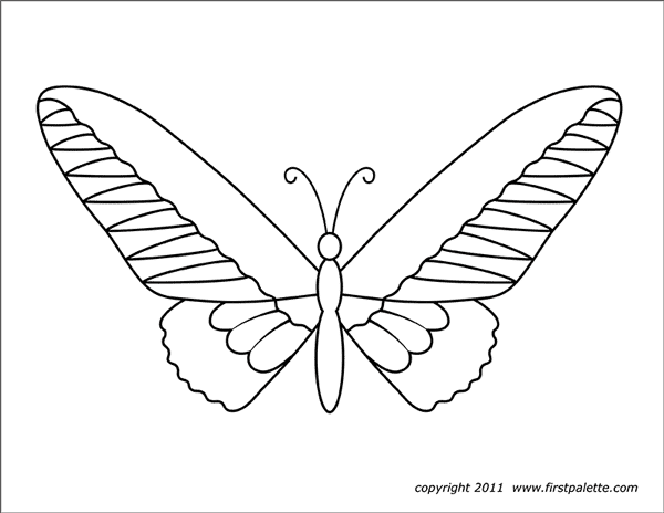 Printable Large Butterfly 3