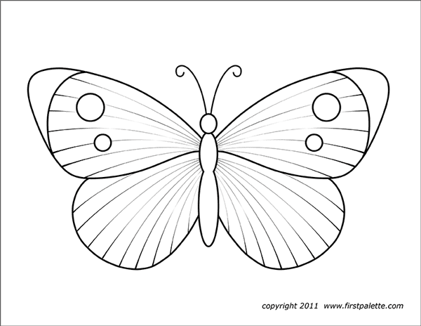 image relating to Printable Butterfly identified as Butterflies Totally free Printable Templates Coloring Web pages