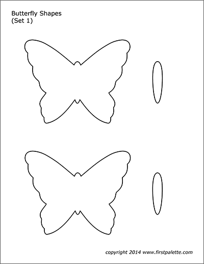 picture about Free Printable Butterfly Template identified as Butterfly Styles Free of charge Printable Templates Coloring Internet pages