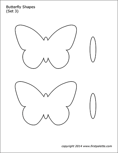 Printable Butterfly Shapes - Set 3