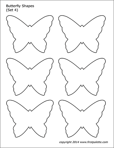 Printable Butterfly Shapes - Set 4