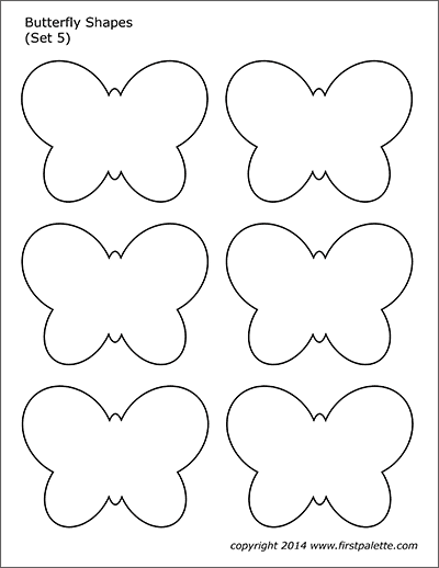 Printable Butterfly Shapes