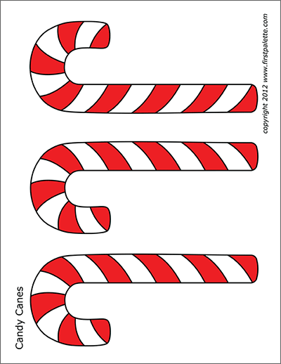 image about Printable Candy Cane named Sweet Canes Cost-free Printable Templates Coloring Internet pages