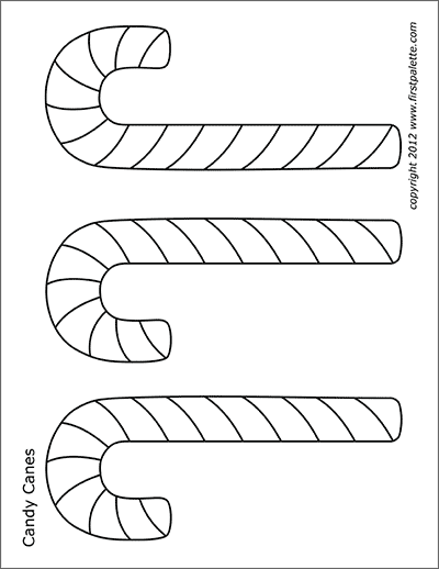 Printable Medium-sized Candy Canes Coloring Page
