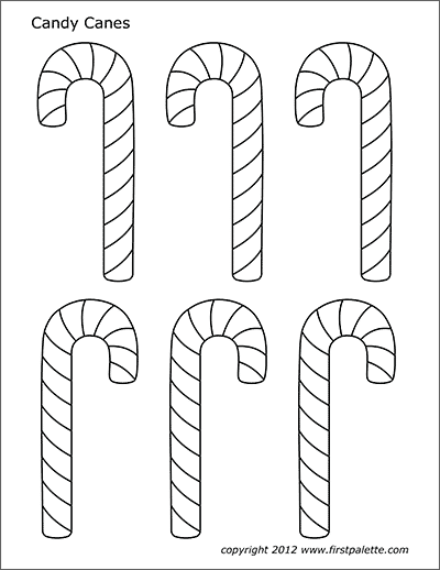Printable Candy Canes